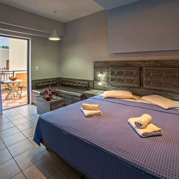 Blue Aegean Hotel & Suites in Gouves - Superior Two Bedroom Suite - Master Bedroom 2