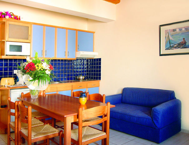 Blue Aegean Hotel in Gouves - One Bedroom Suite Living Room