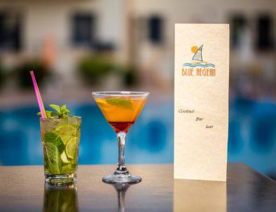 Pool bar's cocktails